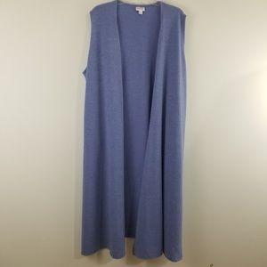 Lularoe Joy Long Open Cardigan XL Purple New